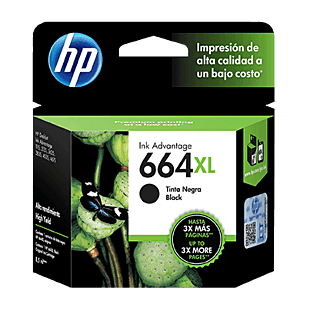 Cartucho de Tinta HP 664XL Negra Original