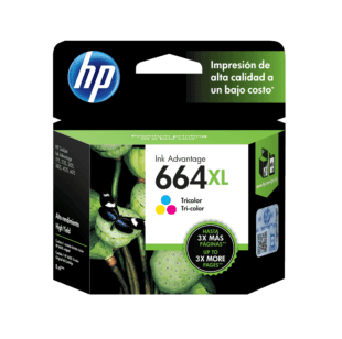Cartucho de Tinta HP 664XL Tricolor Original
