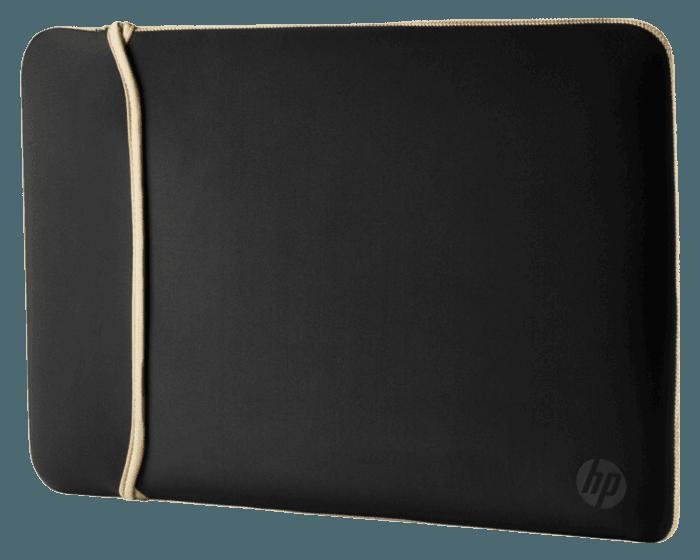 Funda de Neopreno HP Reversible Dorado/Negro de 15.6