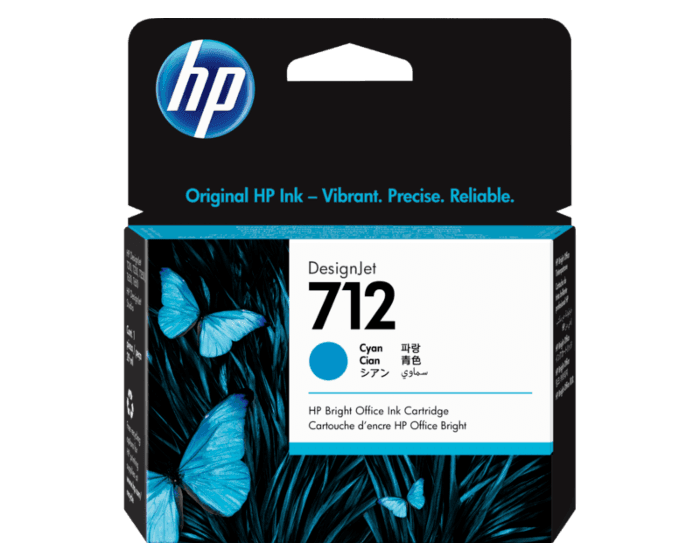 Cartucho de Tinta HP 712 Cian DesignJet Original