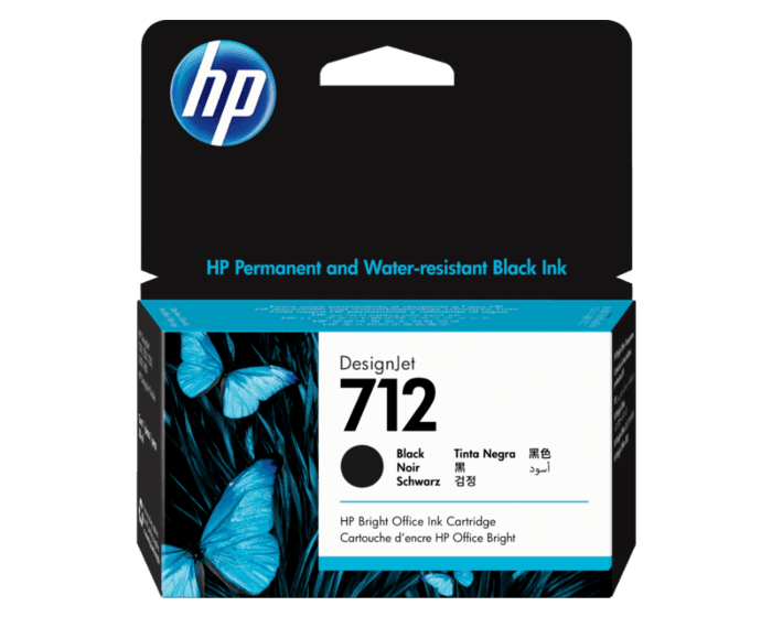 Cartucho de Tinta HP 712 Negro DesignJet Original