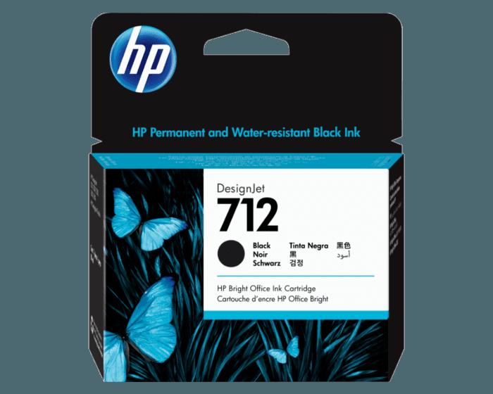 Cartucho de Tinta HP 712 Negro DesignJet de 80 ml