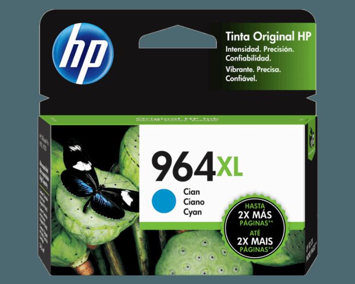 Cartucho original de tinta de alto rendimiento HP 964XL cian
