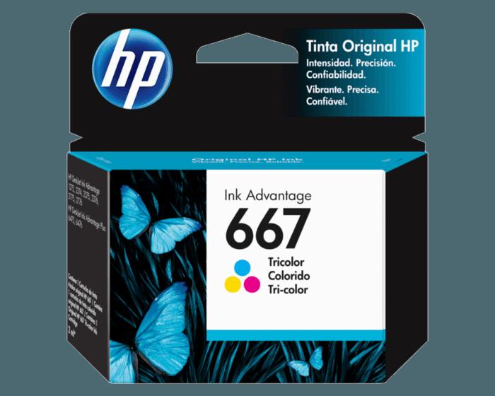 Cartucho de Tinta HP 667 Tricolor Original