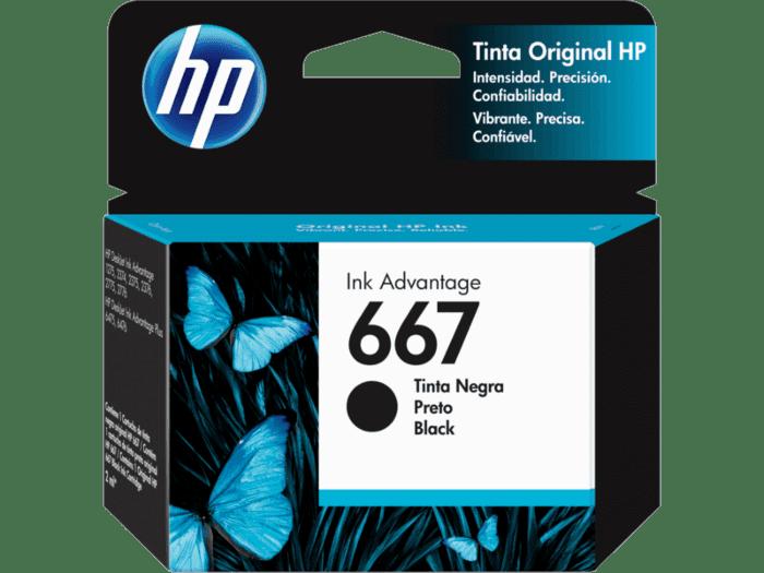 Cartucho de Tinta HP 667 Negro Original
