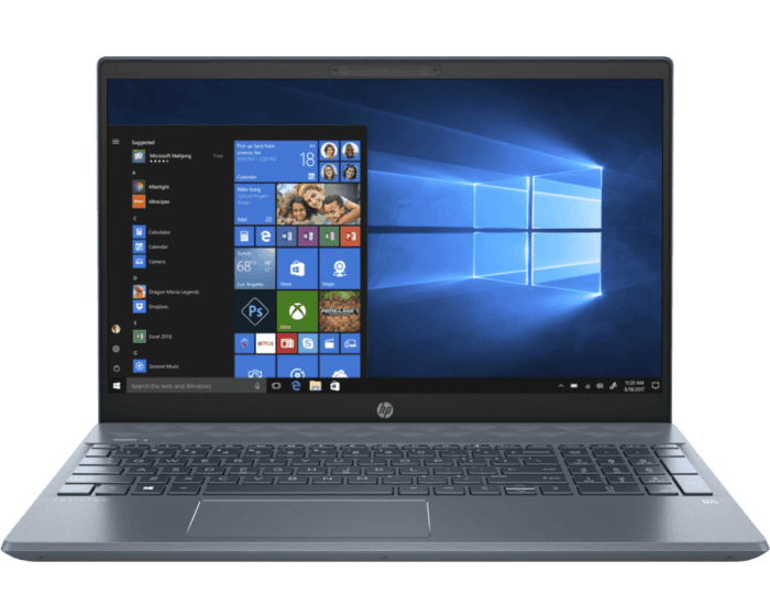 Notebook HP Pavilion - 15-cw1010la