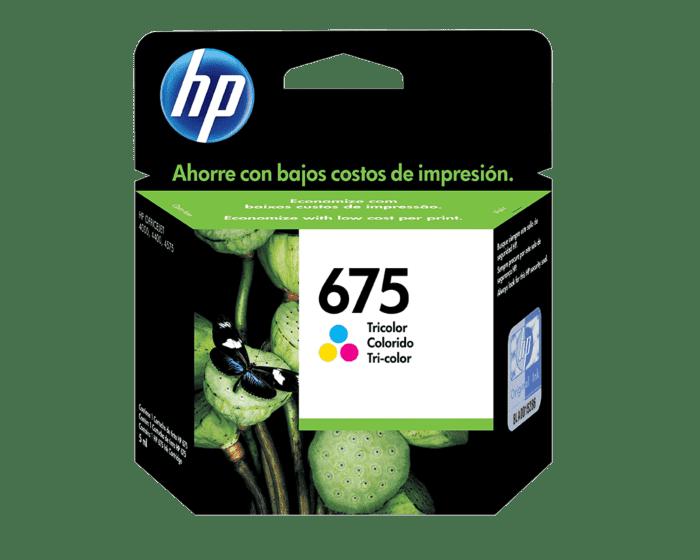 Cartucho de Tinta HP 675 Tricolor Original