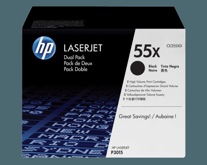 Cartucho de Tóner HP 55X Negro Alto Rendimiento LaserJet Original