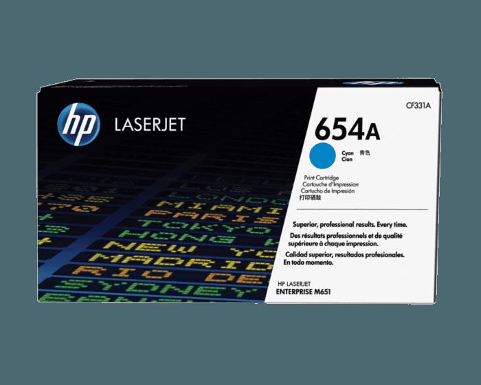 Cartucho de Tóner HP 654A Cian LaserJet Original