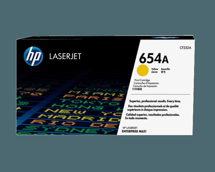 Cartucho de Tóner HP 654A Amarillo LaserJet Original