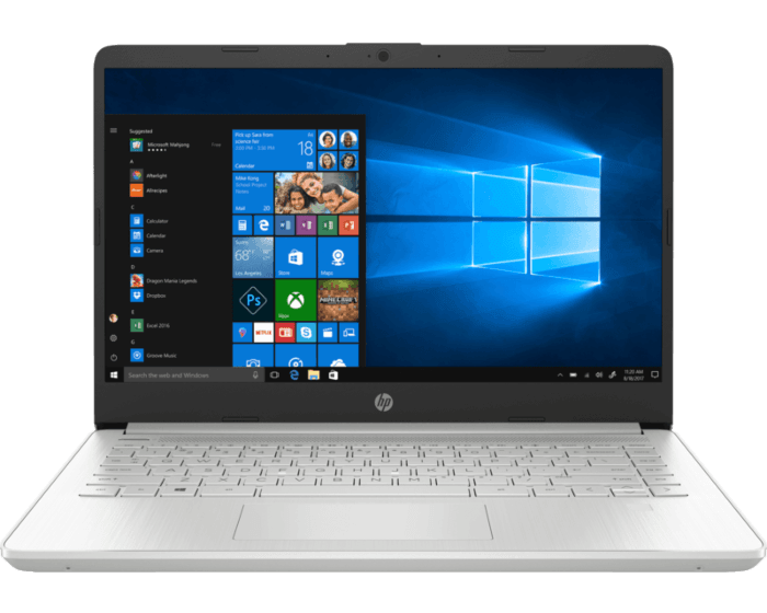 Notebook HP 14-dq1001la