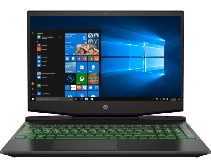 Notebook HP Pavilion Gaming 15-dk0014la