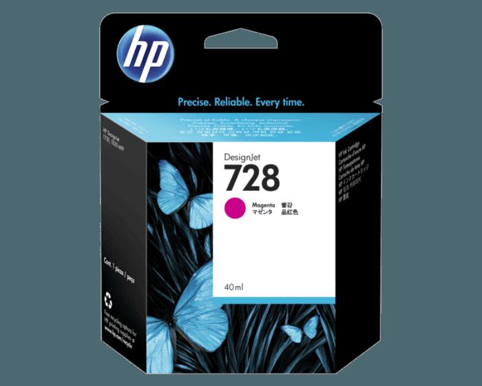 Cartucho de Tinta HP 728 Magenta DesignJet de 40 ml