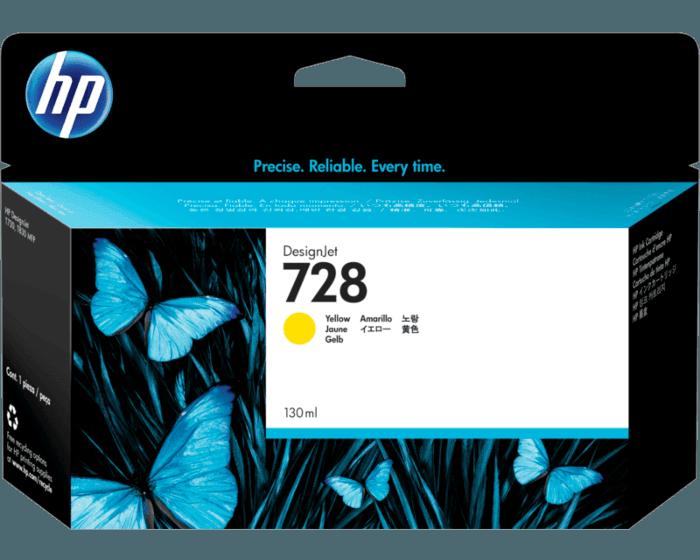 Cartucho de Tinta HP 728 Amarillo DesignJet de 130 ml