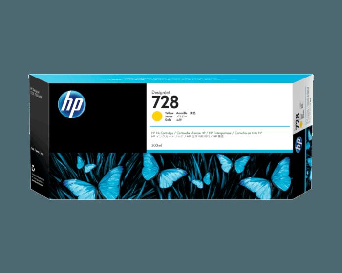 Cartucho de Tinta HP 728 Amarillo DesignJet de 300 ml