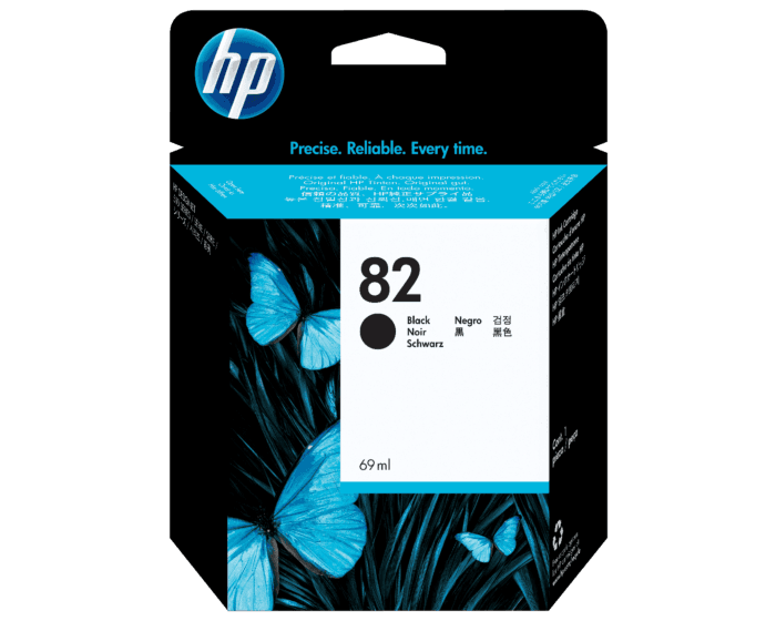 Cartucho de Tinta HP 82 Negro DesignJet de 69 ml