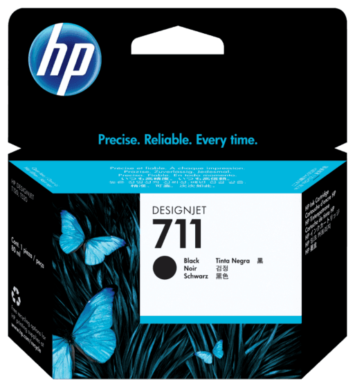 Cartucho de Tinta HP 711 Negro DesignJet  de 80 ml