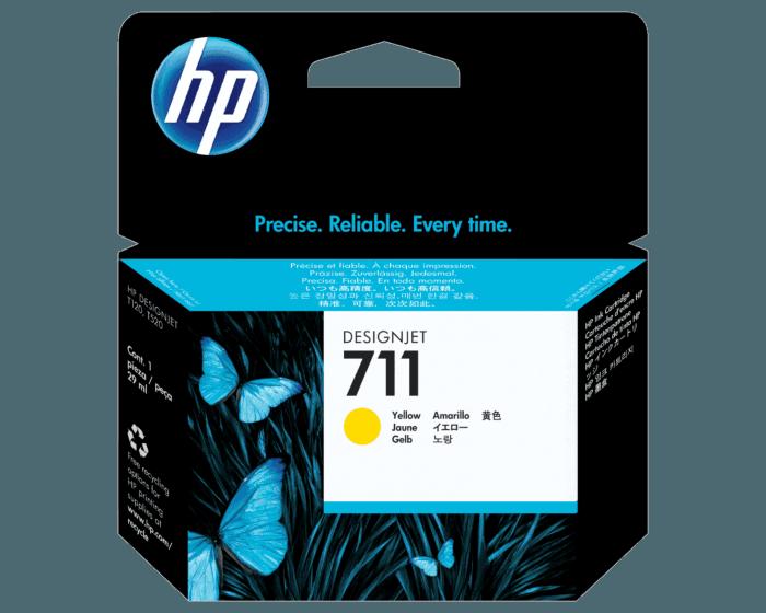 Cartucho de Tinta HP 711 Amarillo DesignJet de 29 ml