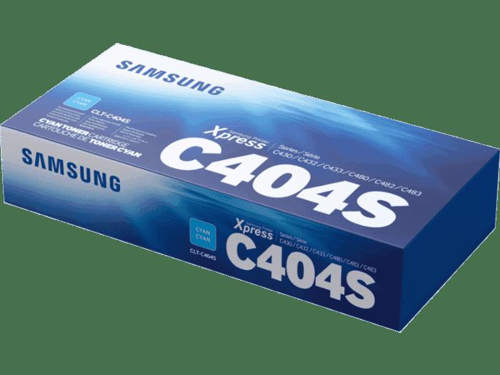 Cartucho de Tóner Samsung CLT-C404S Cian Original