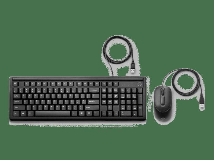 Teclado y Mouse con Cable HP 160